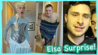 MAN DRESSED AS ELSA!