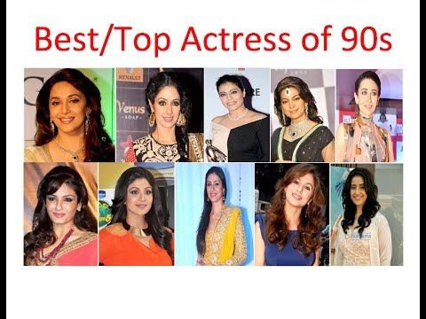 Best Hindi Actress of 90s Juhi Mahuri Sridevi Kajol | Top bollywood Actress of 90s  | Hindi Heroines