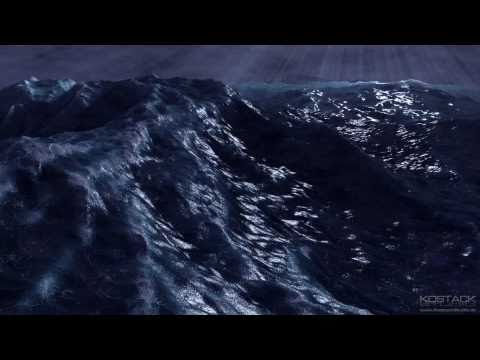 Blender test: Ocean Fluid Dynamics Simulation