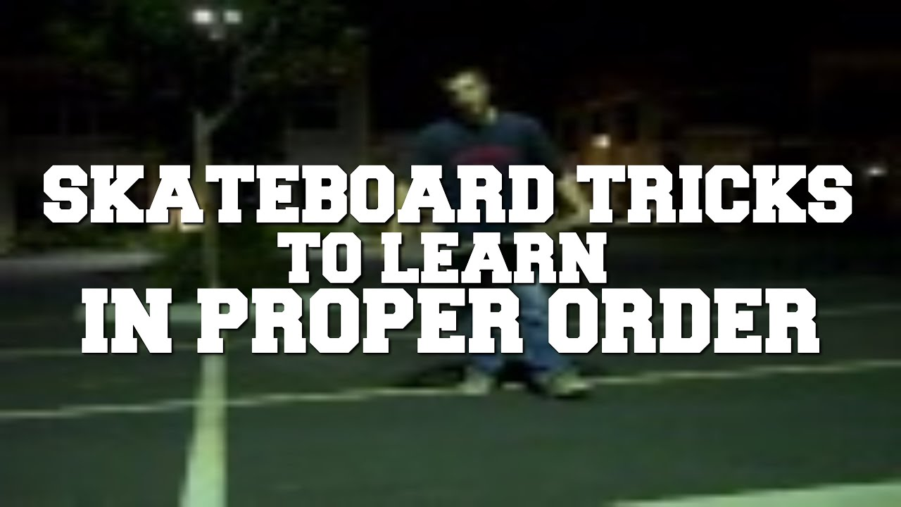 FIRST 100 SKATEBOARD TRICKS EVERYONE SHOULD LEARN! - …