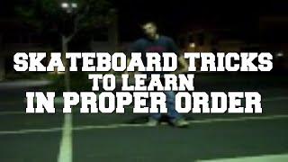 Skateboard Tricks List in Order