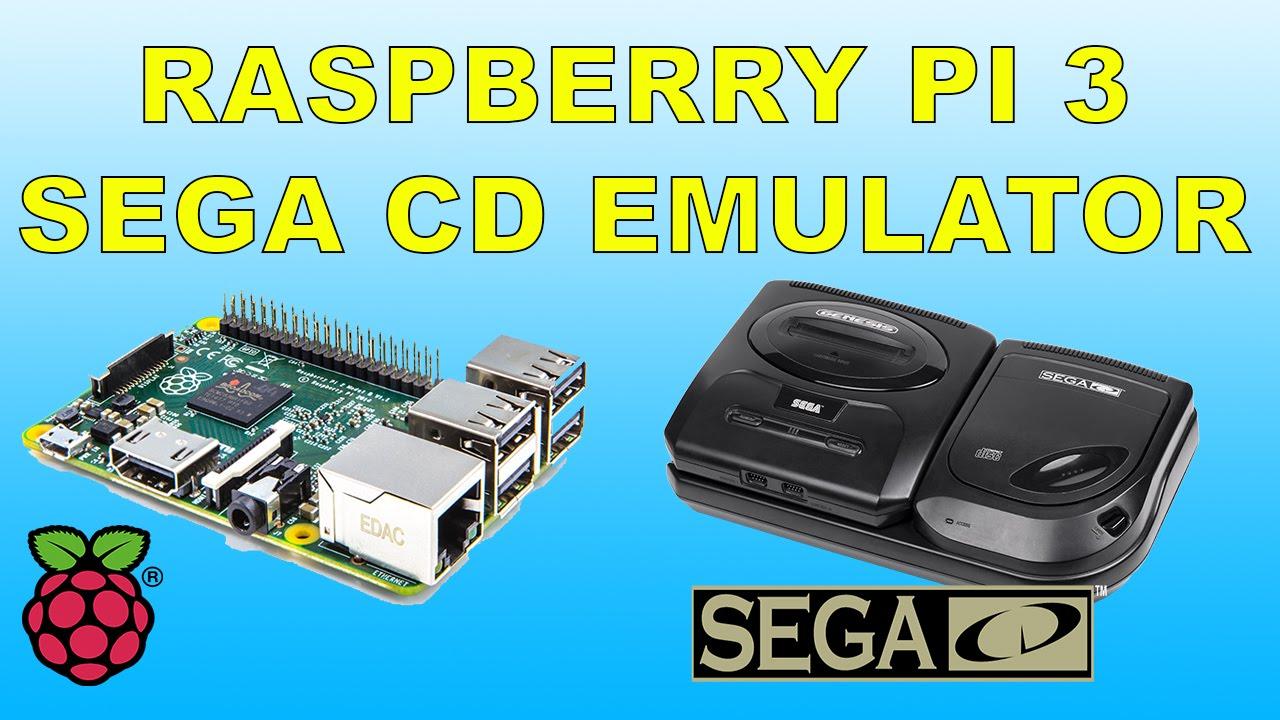 Raspberry Pi 3 Running SEGA CD Emulator Recall box Emulation Station