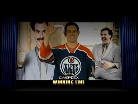 Oilers Jumbotron: Oilers imitate Borat