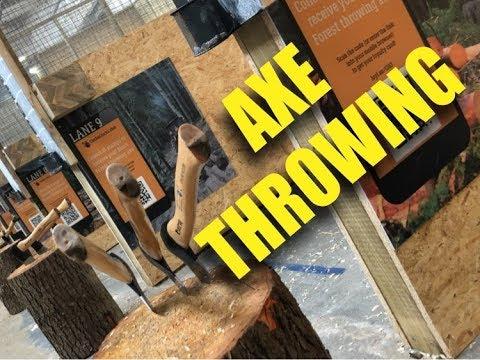 AXE THROWING at Timber Jacks!!!