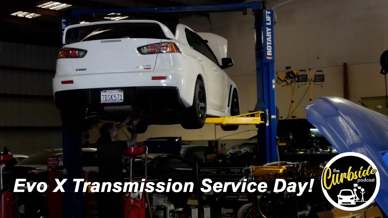 Mitsubishi Evo X MR Transmission Maintenance Day! - A Curbside Vlog