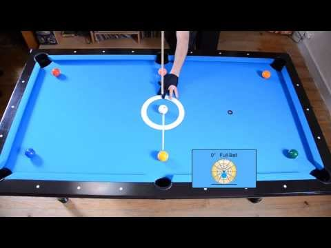 Cue Ball Position Control Drill - Angle Fraction Ball Aiming System - Pool & Billiard Training
