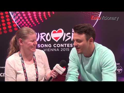 Eurovision 2015: Daniel Kajmakoski - Autumn Leaves - Interview - FYR Macedonia
