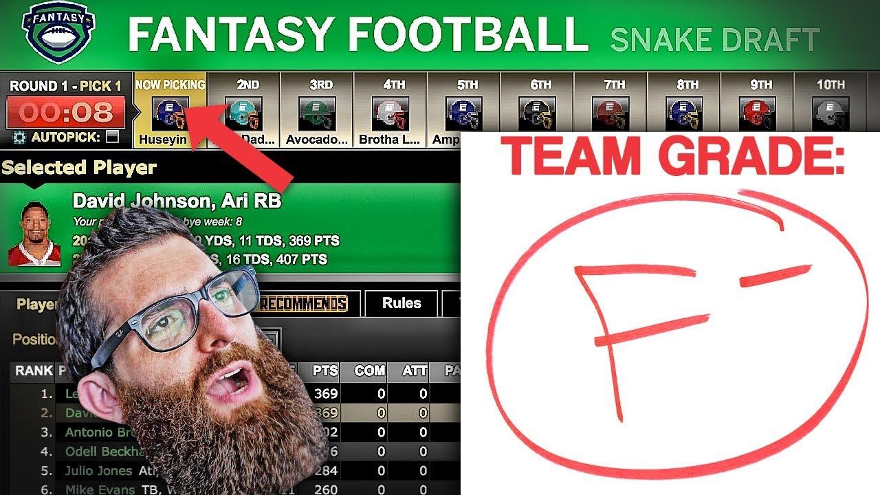 Espn fantasy football draft