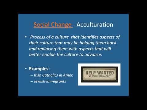 example of acculturation in sociology