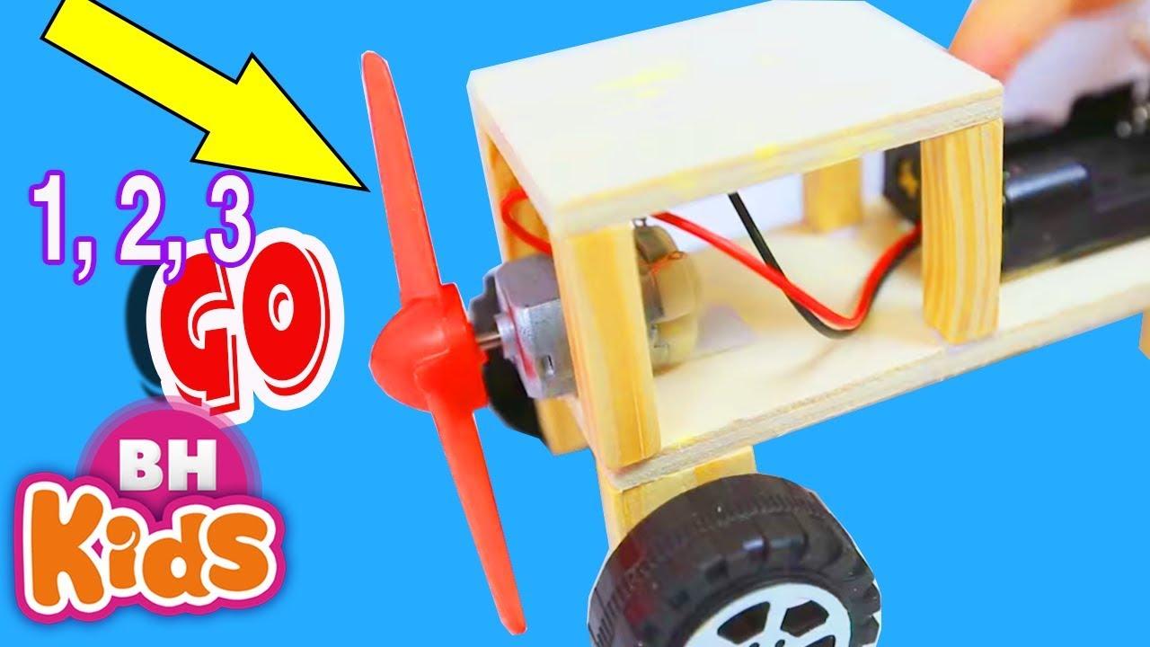Cách làm xe ô tô đồ chơi chạy bằng cánh quạt đơn giản - How to make car toy | Diy