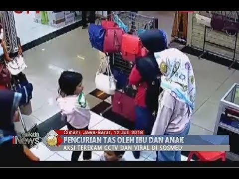 Aksi Pencurian Tas Terekam CCTV, Ibu dan Anak Digelandang Polisi