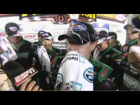 Carl Edwards and Ricky Stenhouse Jr. Wreck and win at IOWA Amazing Finish