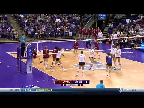 Volleyball: Husky Highlights Of Win Over #2 Stanford