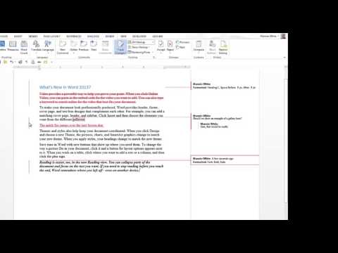 Simple Markup in Word 2013