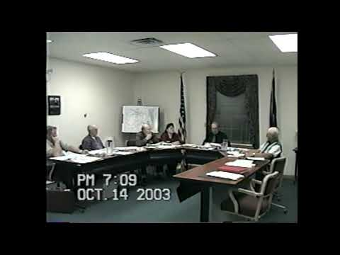 Champlain Town Board Meeting  10-14-03