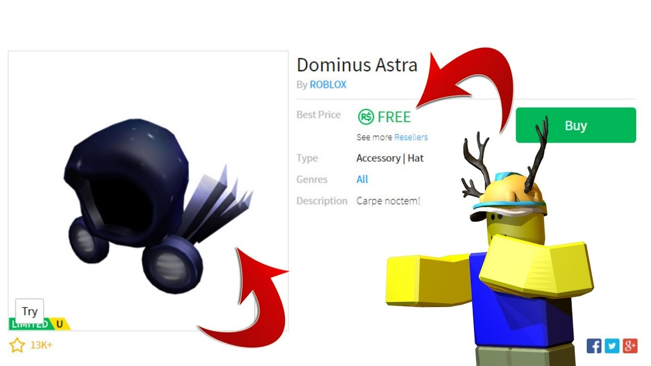 Hat Free Dominus Roblox
