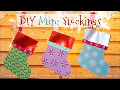 DIY Mini Paper Stockings 🎁   Gift Card Holders