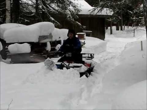 My homemade snowblower... - YouTube