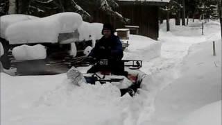 My homemade snowblower...