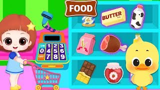 Baby Doli mart and cooking food play and sleep baby doll house play