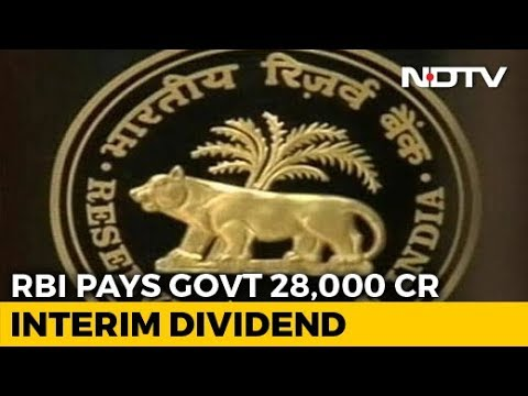 RBI Gives Rs. 28,000 Crore Interim Dividend To Government Before Elections