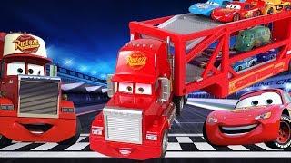 Тачки - Грузовик Мак Тягач Автовоз и Молния Маквин - Трейлер Мак и Машинки из Мультика - Disney Cars