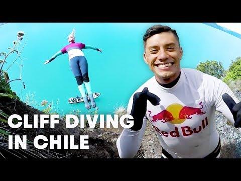 Cliff Diving Champions Explore Patagonia