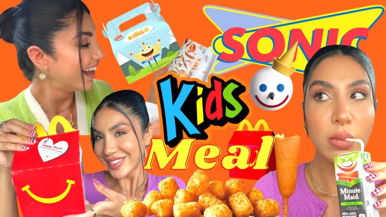 جربت وجبات الأطفال من كل مطاعم الوجبات السريعة | Kids Meal👶🏻