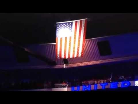 2014 Stanley Cup playoffs La Kings and Chicago Blackhawks  national anthem.
