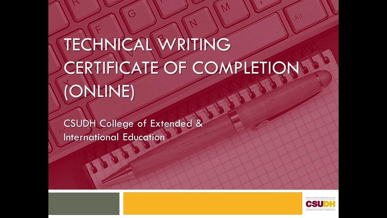 Graduate Certificate Programs in Technical Communication