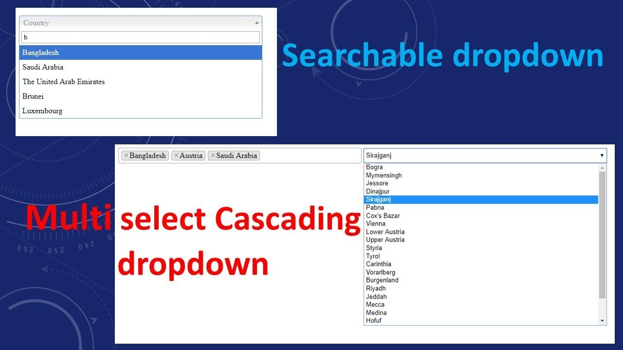 Searchable and Multi-select Drop DownList in ASP NET MVC | Select2
