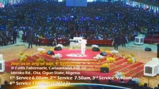 Bishop David Oyedepo-Healing Banquet & Anointing Service-July 20th- 2014