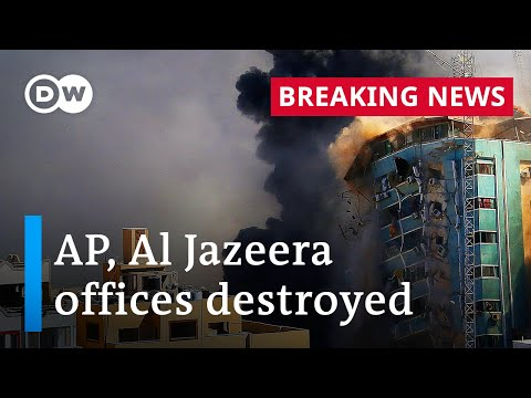 Israeli airstrike flattens Gaza media tower as violence spreads   DW Special Report