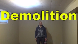 Removing Ceiling Tiles-Stapled Down-DIY Demolition