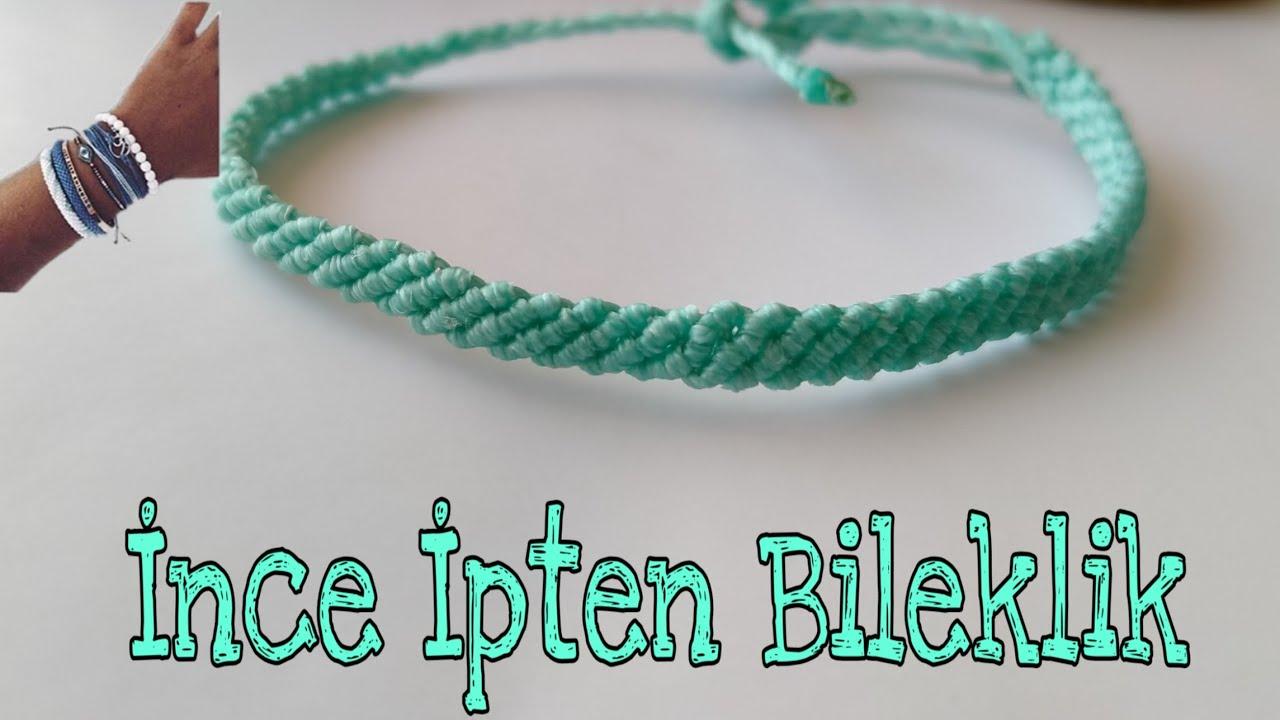 İnce Tek Renkli İpten Bileklik Yapımı | Friendship bracelets