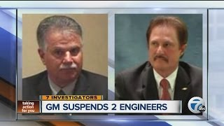 General Motors suspends two engineers