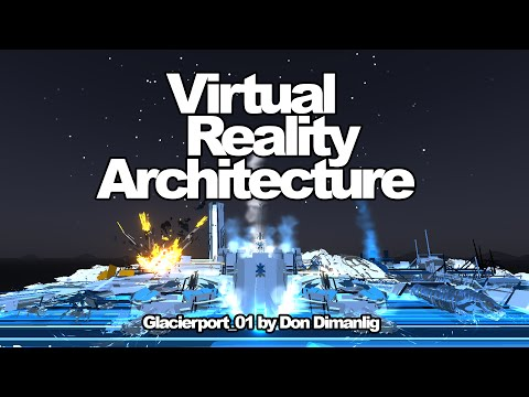 """VR Architecture Drawing: """"Glacierport"""" by Don Dimanlig"""