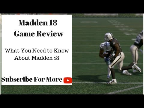 Madden 18 Game Review