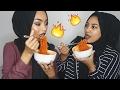 The spicy ramen challenge 🔥 Sabina Hannan