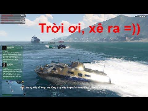 GTA 5 Online - Kéo 7 Chiếc Xe Tăng Lội Nước Càn Quét Khu Quân Đội =))
