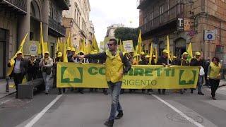 Palermo, 20mila agricoltori in piazza: