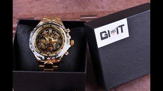 Winner Golden Watch Men Automatic Skeleton Watch (AliExpress)