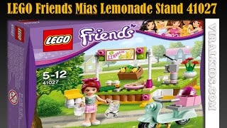Lego Friends Mias Lemonade Stand 41027 - Review - Lego Amigos Mias Limonada