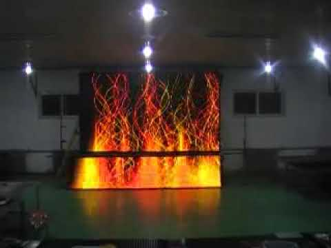 Soft Led Curtain Screen Best With American Dj Chauvet Lighting Washer Moving Head Youtube