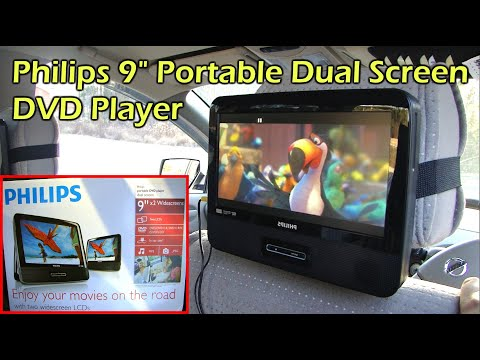"Philips Dual 9"" Headrest Screen DVD Player for your Car (PD9012/37)"