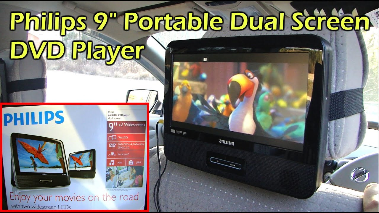 Philips dual 9 headrest screen dvd player for your car pd9012 37 youtube