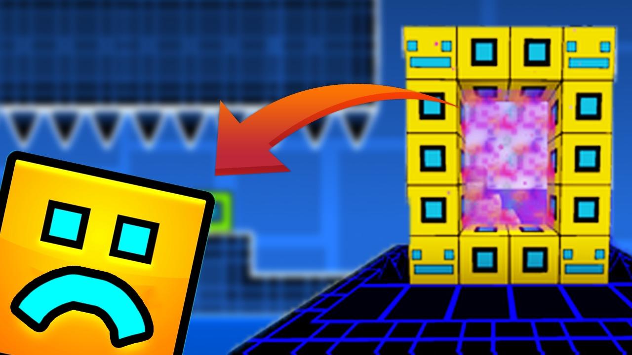 Game Over Portal A La Dimension De Geometry Dash En Minecraft