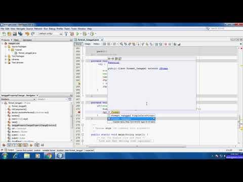 Cara Setting format tanggal JDateChooser di NetBeans IDE - Java
