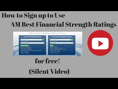 How To Sign Up For AM Best Financial Strength Ratings For Free