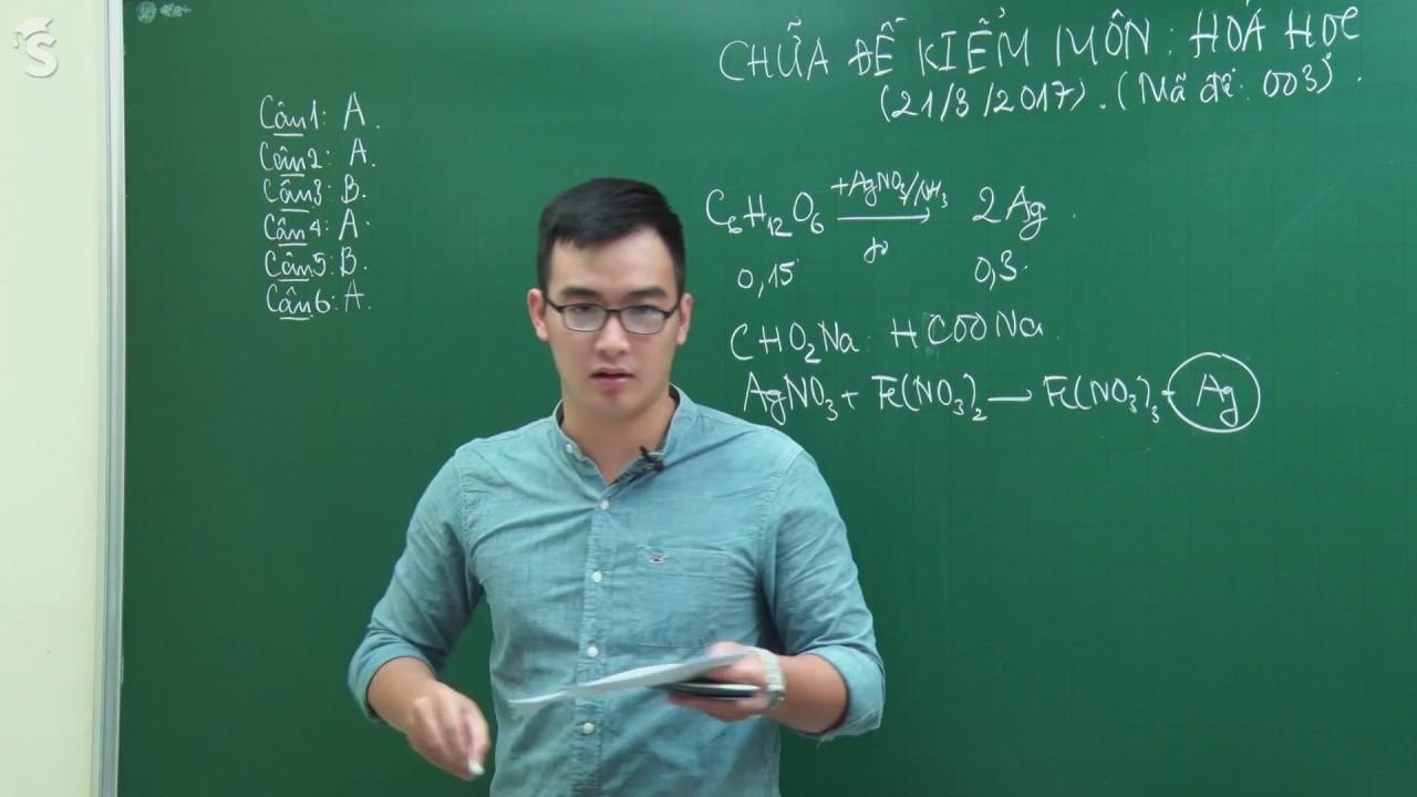 Hướng dẫn giải đề thi thử THPT Quốc Gia môn hóa – Sở giáo dục Hà Nội – Thầy Phạm Thanh Tùng